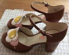 Orla Kiely Clarks, Betty Tan Shoes In Size 6, EUR 39.5, Vintage Style