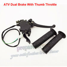 Thumb Throttle Brake Lever Grips For Chinese 150cc 200 250cc Quad 4 Wheeler ATV