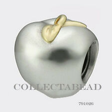 Authentic Pandora Sterling Silver & 14k Gold Apple Bead 791026