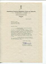 Marshall Samuel Chicago White Sox Director Publicity Signed Autograph 1946 TSL