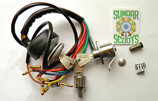 LI S'3 AC IGNITION SWITCH.STEERING/TOOL BOX LOCKS+COMMON KEY+FITTINGS.LAMBRETTA