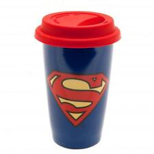Superman Ceramic Travel Mug With Silicone Lid Coffee Soup