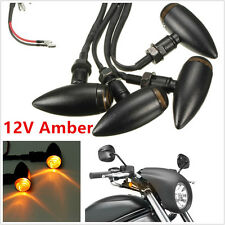 4 X DC12V 12LED 2.16W Amber Bullet Motorbike Bicycle Turn Signal Lamps Indicator