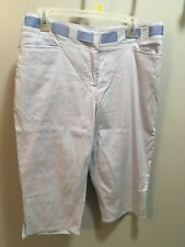 Blue and white striped Ruby Red shorts women's size 12