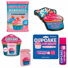 CUPCAKE BATH KIT 4PC- FROSTING FLAVORED DENTAL FLOSS, LIP BALM, MINTS & BANDAGES