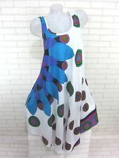 SOMMER Kleid Strandkleid Tunika Trägerkleid Hippie Weiß B Gr. 42 44 46 (1501)