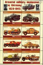 WWII Sd.Kfz. Sonderkraftfahrzeug German Armoured Vehicle / Car Stamp Sheet 2011