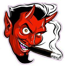 """Smoking Devil Decal is 5"""" in size."""