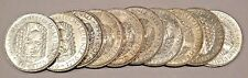 LOT OF 10 COINS GERMANY 5 MARK SILVER UNC COIN 1966 D LEIBNIZ INVESTMENT BU UNC