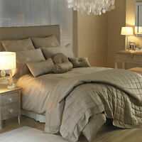 Kylie Minogue at Home Valencia Truffle Bedding Duvet Cover Including Pillowcases