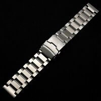 New 18/20/22/24mm Silver Angle Solid Stainless Steel Mens Wrist Watch Band Strap