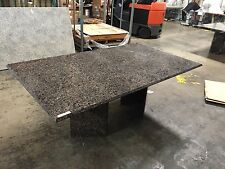 Modern Daisy Black Brown Marble Top Dining Meeting Office Table CA Seller
