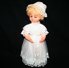 """Vintage 19"""" Musical Animated BRIDE Doll Here Comes The Bride Wedding March"""