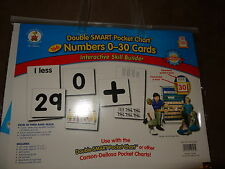 Carson Dellosa DoubleSmart Pocket Chart 166 Numbers 0-30 Cards-New In Package