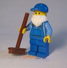 Lego Janitor from set 10224 Town Hall Sweeper/Cleaner Minifigure NEW twn160