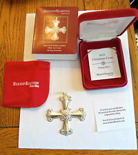 2012 REED & BARTON STERLING SILVER CHRISTMAS CROSS - 42ND EDITION .925 WITH BOX