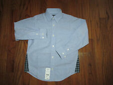 New Brooks Brothers Fleece Boys Size XS Blue Button Down Oxford Dress Shirt