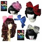 80s Headband - Pop Star Bow - Hen Party Hair Band Fascinator 9 colours Double