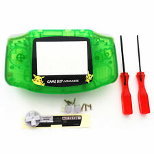 Pikachu Transparent Green Housing Shell Case for Nintendo Game boy Advance GBA