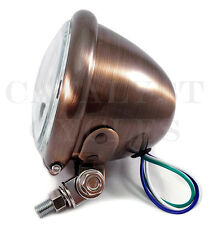 "4.5"" BRUSHED COPPER HEADLIGHT ASSEMBLY FOR HARLEY HEADLIGHT OR BOBBER HEADLIGHT"