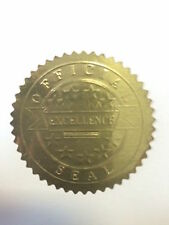 40 x 50mm Star Gold Excellence Award certificate Seals Reward Stickers 2""