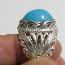 Islamic Natural Iranian Turquoise  Sterling Silver 925 men ring فيروز ايراني