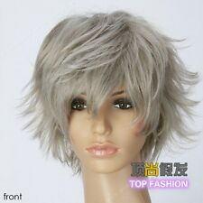 Cosplay Wig New Fashion Silver Gray Short Hair Costume Party Wig