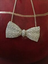 Huge Betsey Johnson Bow Pendant