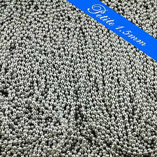 "50 - 24"" PETITE 1.5mm NICKEL Plated Ball Chains 24 Inch Necklace & Connector"