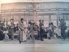 DECEMBER 26, 1895 MAGAZINE PAGE #S82- NEW YORK ELEVATED RAILROAD CHRISTMAS TIME