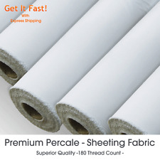"Poly Cotton Sheeting Fabric - Premium Percale Fabric Material 180 TC - 84"" Wide"