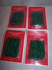 400 PC ORNAMENT CHRISTMAS TREE  hooks DECOR XMAS DECORATIONS WIRE GREEN HANGERS