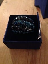 GENUINE SWAROVSKI Black BLUE CHIC RING SIZE 55 - CHRISTMAS PRESENT