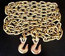 "2ea 1/2"" x 20' G70 Truck Tie Down Binder Chain Transport Chain Tow Chain w Hooks"