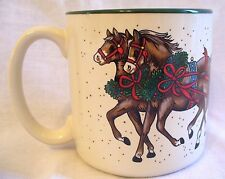 Vintage Potpourri Press Horse Drawn Sleigh Mug New in Box