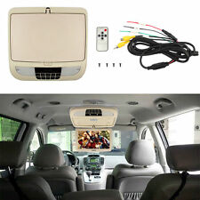 "9"" Auto Car Roof Mounted Overhead Flip Down TFT LCD 16.9 Monitor Wide Screens TV"