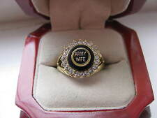 "Superb NEW Ladies ""United States Army Wife"" Crest Stone Ring"