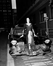 Vampira Maila Nurmi sitting on a hearse horror movie star 8x10 rare photo