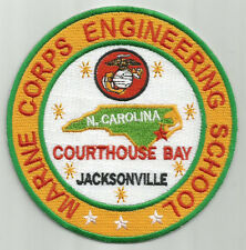 USMC BASE PATCH, MARINE CORPS ENGINEERING SCHOOL, NORTH CAROLINA,              Y
