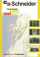 SCHNEIDER HIFI CATALOGO prospetto 1997 AUDIO HI-FI STEREO DVD VIDEO TV