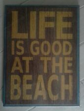 Retro Sabby Chic 'Life Is Good At The Beach' Wall Sign/Plaque