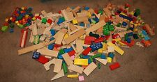 Huge Lot Wooden Building Blocks 34 lbs Toys Toddlers Preschool String Toys