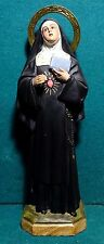"ST MARGARET M ALACOQUE w/ SACRED HEART Vtg 1960s CHALKWARE 11.81"" FIGURE STATUE"