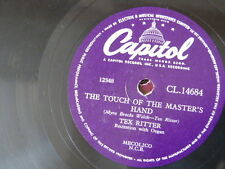 78rpm TEX RITTER touch of the masters hand / green grow the lilacs
