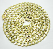 "40"" 8mm 55gr 10k Yellow Gold Miami Cuban Curb Link Chain Thick Necklace Mens"