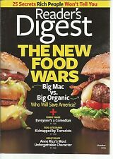 Reader's Digest October 2013 New Food Wars/Anne Rice's Unforgettable Character