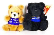 Dakin Teddy Bear New World Van Lines Advertising Plush Vtg 1978 Brown 1991 Black