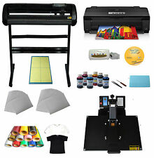 "Heat Press Machine 34"" Cutting Plotter Transfer Epson Printer Ink Vinyl T-shirts"