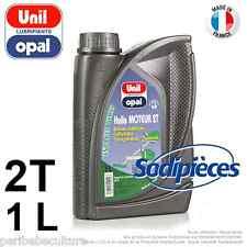 Huile moteur 2 temps Unil Opal pour tronçonneuse, débroussailleuse, tondeuse. 1
