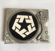 Tribal Gear Belt Buckle Turntable Record Player Rare Classic Hip Hop Vintage USA